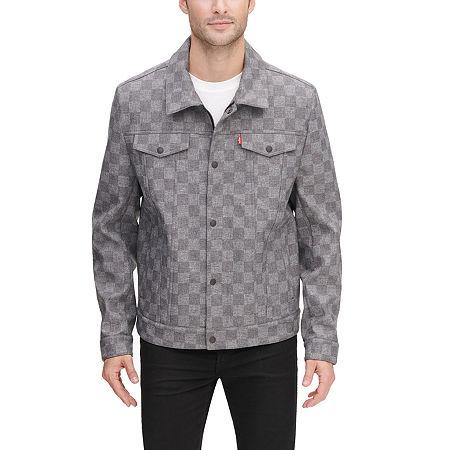 Levi's Men's Soft Shell Trucker Jacket, Small , Gray
