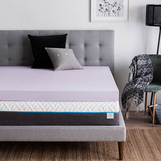 """Dream Collection by Lucid 4"""" Lavender Infused Memory Foam Mattress Topper"""