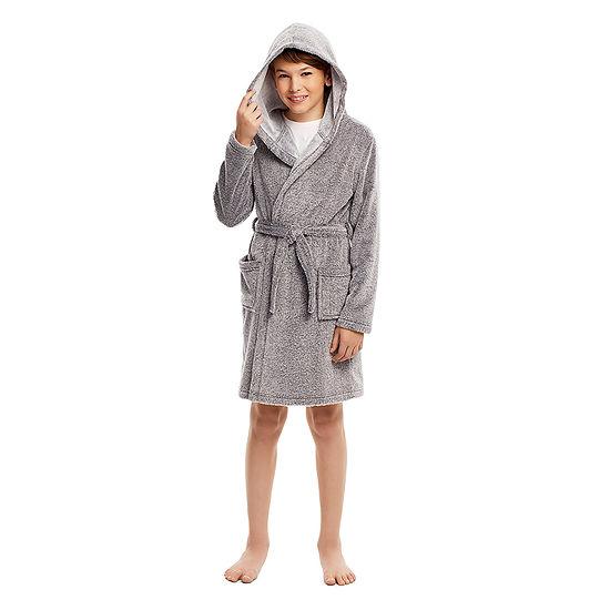 Jelli Fish Kids Little & Big Boys Plush Long Sleeve Mid Length Robe