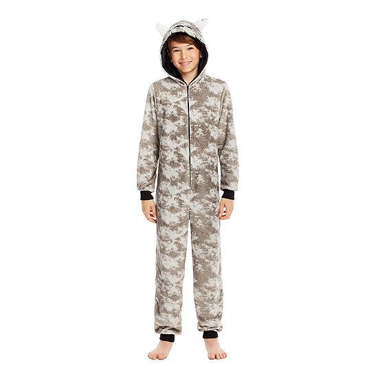 Jelli Fish Kids Little & Big Boys Fleece Long Sleeve One Piece Pajama