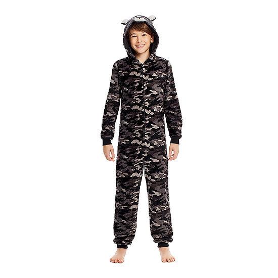 Jelli Fish Kids Little Boys Fleece Long Sleeve One Piece Pajama