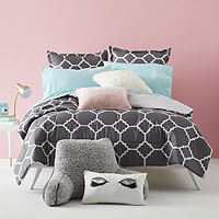 Deals on Home Expressions Tiles Complete Bedding Set w/Sheets Twin