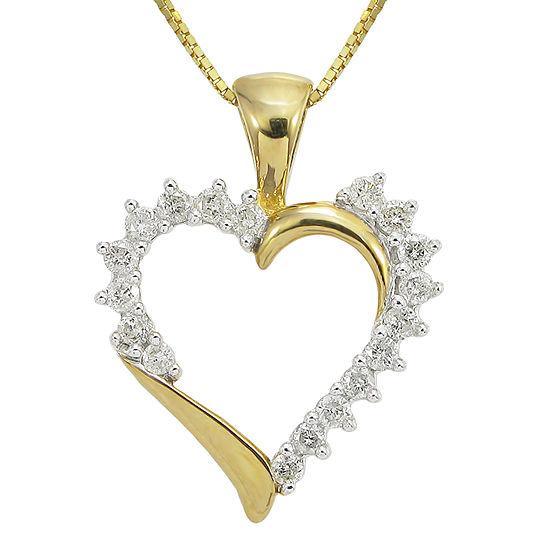 Ct Tw Diamond Heart Pendant Necklace