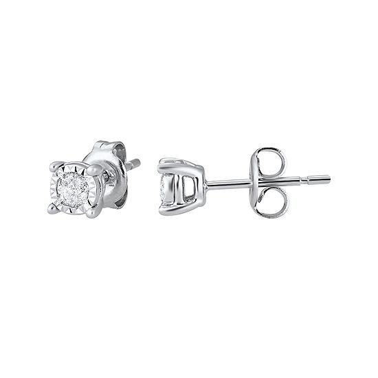 ¼ CT. T.W. TruMiracle® Genuine Diamond Stud Earrings