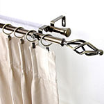 "Rod Desyne Double 13/16"" Adjustable Curtain Rod with Marquise Finials"