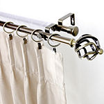 "Rod Desyne Double 13/16"" Adjustable Curtain Rod with Twist Finials"