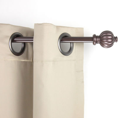 "Rod Desyne Pumpkin 5/8"" Adjustable Curtain Rod"