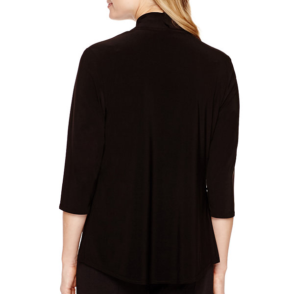 R&M Richards 3/4 Sleeve Knit Shrug