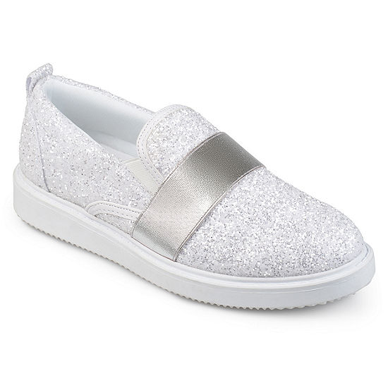 Journee Collection Womens Luster Slip-On Shoe Round Toe