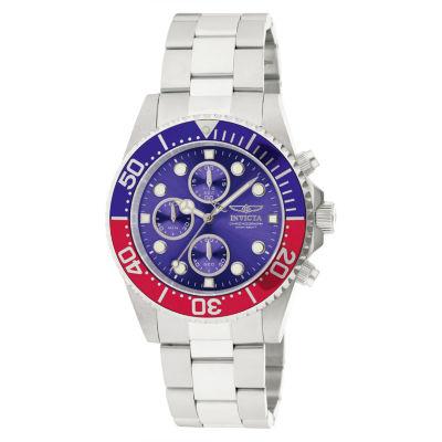 Invicta Pro Diver Mens Silver Tone Bracelet Watch-1771