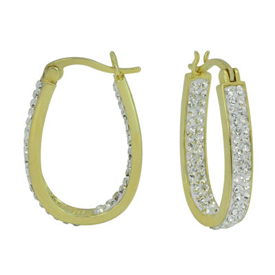 Sparkle Allure Clear 18mm Hoop Earrings