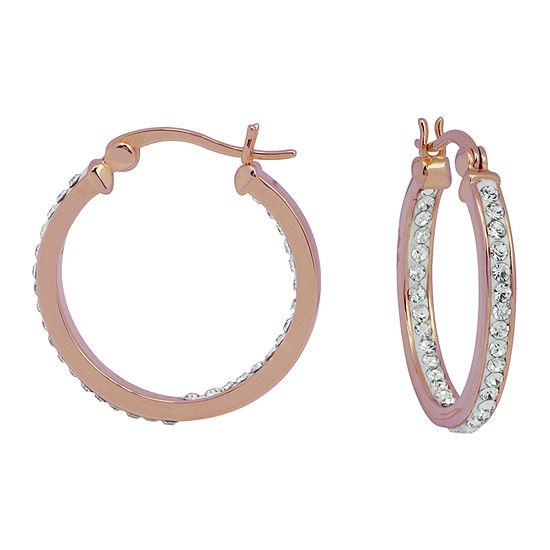 Sparkle Allure 24.9mm Hoop Earrings
