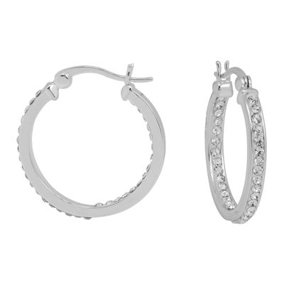 Sparkle Allure Clear 24.9mm Hoop Earrings