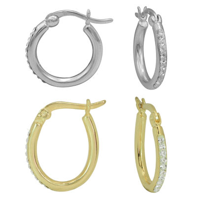 Sparkle Allure Clear 15mm Hoop Earrings
