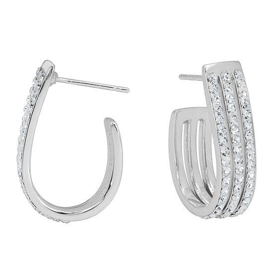 Sparkle Allure 9mm Hoop Earrings