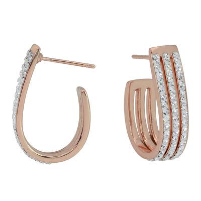 Sparkle Allure Clear 9mm Hoop Earrings