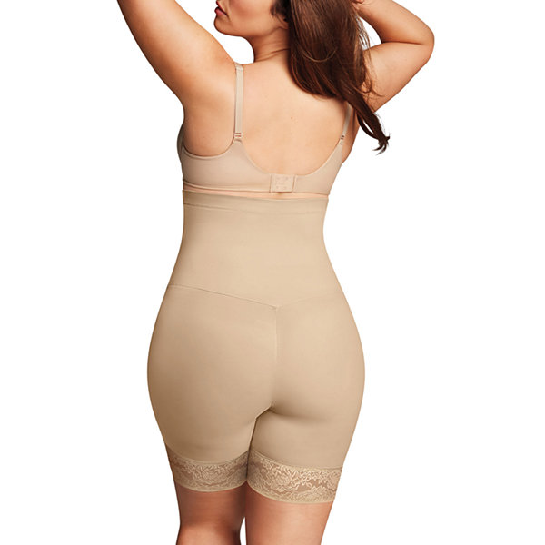 Maidenform Curvy Firm Foundations Firm Control High-Waist Thigh Slimmers - Plus