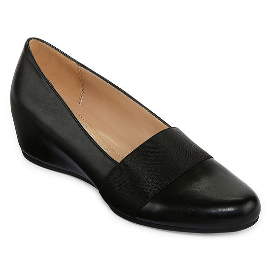Andrew Geller Womens Secretary Pumps Closed Toe Stacked Heel
