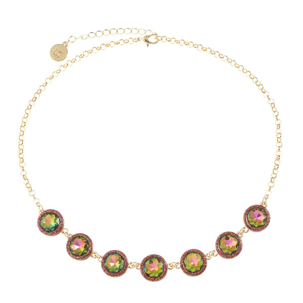 Liz Claiborne Womens Multi Color Collar Necklace