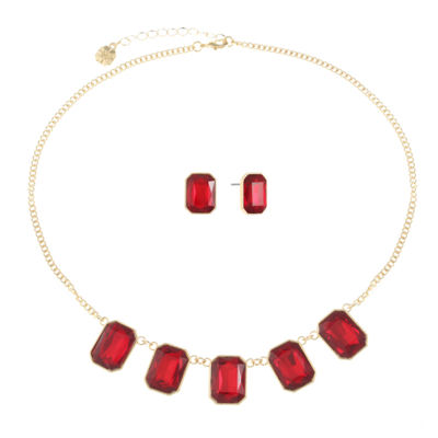 Monet Jewelry Womens 2-pack Red Jewelry Set