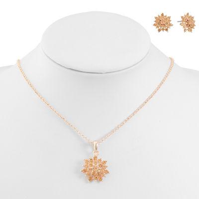 Monet Jewelry Rose Tone 2-pc. Jewelry Set