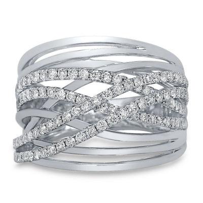 Womens 1 CT. T.W. Genuine White Diamond 14K Gold Band