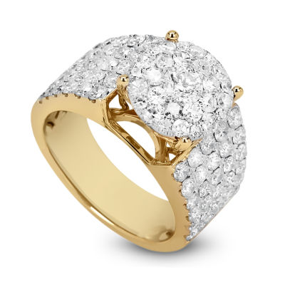 Womens 2 1/2 CT. T.W. Genuine White Diamond 14K Gold Band