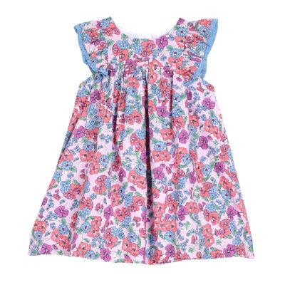 Marmellata Cap Sleeve Floral Print Dress - Baby Girls