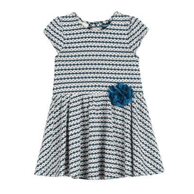 Marmellata Short Sleeve Stripe Knit Dress - Baby Girls