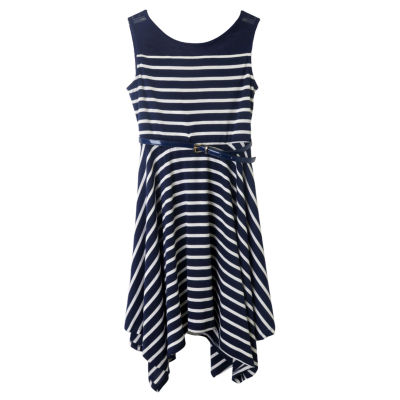 Zunie Sleeveless Skater Dress - Big Kid Girls