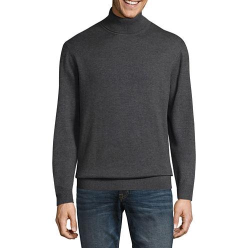 Claiborne Turtleneck Long Sleeve Pullover Sweater