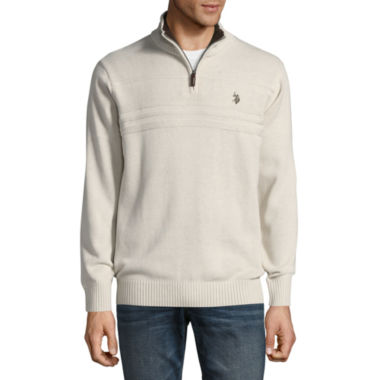 U.S. Polo Assn. Mock Neck Long Sleeve Sherpa Pullover Sweater