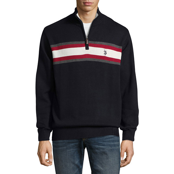 U.S. Polo Assn. Mock Neck Long Sleeve Jersey Pullover Sweater