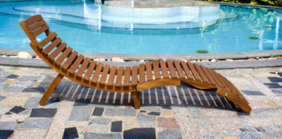 Northbeam Curved Folding Chaise Lounger