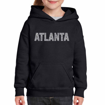 Los Angeles Pop Art Atlanta Neighborhoods Long Sleeve Sweatshirt Girls