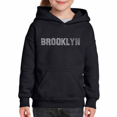 Los Angeles Pop Art Brooklyn Neighborhoods Long Sleeve Sweatshirt Girls