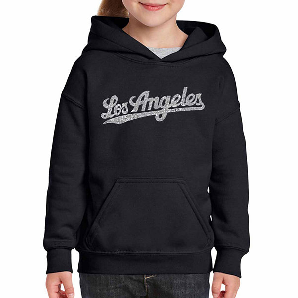 Los Angeles Pop Art Los Angeles Neighborhoods LongSleeve Girls Word Art Hoodie