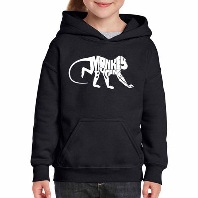 Los Angeles Pop Art Monkey Business Long Sleeve Sweatshirt Girls