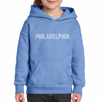 Los Angeles Pop Art Philadelphia Neighborhoods Long Sleeve Sweatshirt Girls