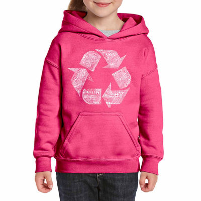 Los Angeles Pop Art 86 Recyclable Products Long Sleeve Sweatshirt Girls