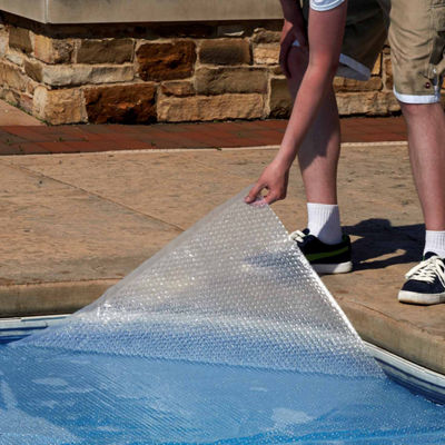 Blue Wave Oval 12-mil Solar Blanket for Above Ground Pools - Clear
