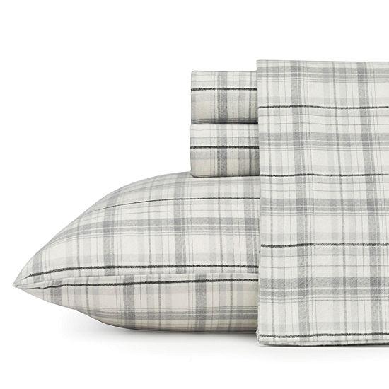 Eddie Bauer® Beacon Hill Easy Care Flannel Sheet Set