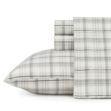 Eddie Bauer® Beacon Hill Easy Care Flannel Sheet Set