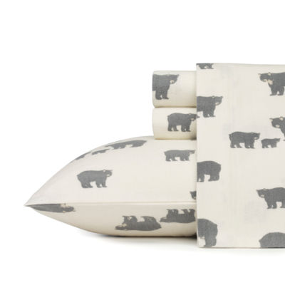 Eddie Bauer® Bear Family Easy Care Flannel Sheet Set