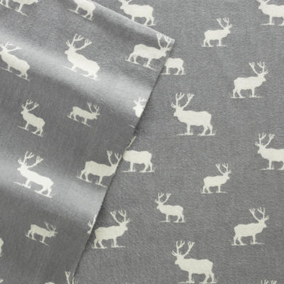 Eddie Bauer® Elk Grove Easy Care Flannel Sheet Set