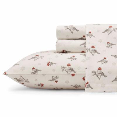 Eddie Bauer® Frosty Finch Easy Care Flannel Sheet Set