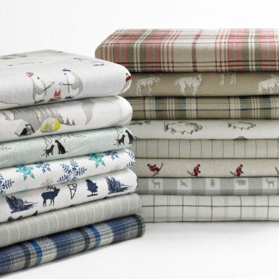Eddie Bauer® Preston Easy Care Flannel Sheet Set