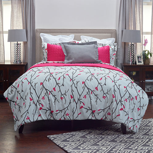 Rizzy Home Dress The Bed Blossoms & Blooms 3-pc. Comforter Set