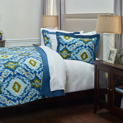 Rizzy Home Dress The Bed Seaglass 3-pc. Comforter Set