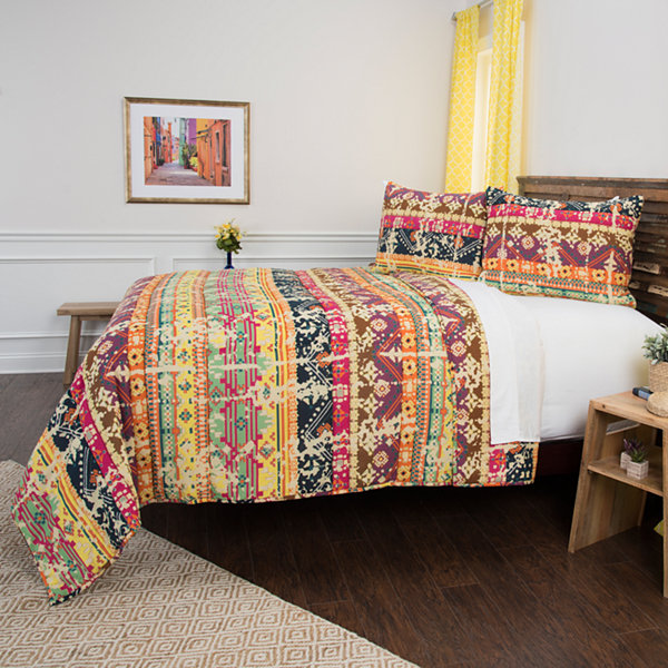 Rizzy Home Maddux Place Dash 3-pc. Quilt Set